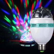 Lampada Globo De Luz Giratoria Led Rgb Dj Jogo De Balada - Led Full Color