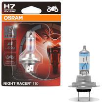 Lampada Halógena Night Racer Plus H7 3500K 55W 12V Original Osram Aplicação Farol Moto -
