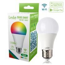 Lâmpada Inteligente Bulbo Smart Rgb Wi-fi 10W Bivolt E27 Ledo -