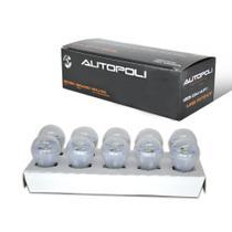 Lampada LED 1 Polo 3W 12V Bulbo Branca Autopoli Trava Reta Caixa -