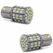 Lâmpada LED 1 Polo Trava Reta 64 LEDs 10W 24V Luz Branca Aplicação Ré e Freio Caminhão - Mixcom