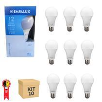 Lâmpada Led 12w Bulbo Empalux Casa Comercio Bivolt 10un -