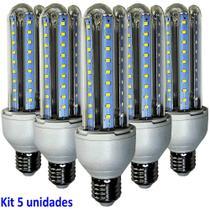 Lâmpada Led 12W Kit 5 Unidades E27 Branco Frio 6400k Econômica Bi volt WMT2425 -
