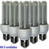 Lâmpada Led 9W Kit 5 Unidades E27 Branco Frio 6400k Econômica Bi volt WMT2424 -