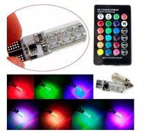 LAMPADA LED AUTOMOTIVO T10 RGB Pingo Cores - Lm
