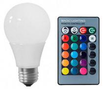 Lâmpada LED Bulbo 05W RGB - Kit led