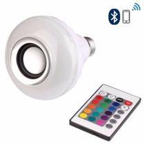 Lâmpada Led Caixa De Som Bluetooth Musical Com Controle Rgb - Lampada -