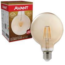 Lâmpada LED de Filamento Globo G125 Luz Âmbar 4W Avant Bivolt -