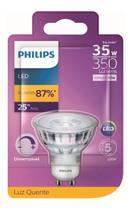 Lâmpada Led Dicroica 4,5w Gu10 Amarela Philips Dimerizavel -