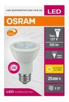 Lâmpada LED DIMERIZAVEL PAR20 7w E27 3000k Luz branca-quente Bivolt Osram -