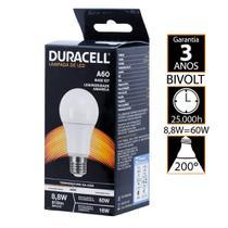 Lâmpada Led Duracell Bulbo 8,8W 3000K - Amarela -