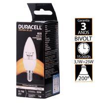 Lâmpada Led Duracell Vela Clean 3,1W 3000K - Amarela -