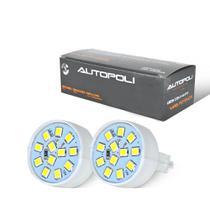 Lampada LED Encaixe T20 1 Polo 3,5W 12V 12 LEDs Branca Autopoli Par -