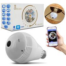 Lâmpada LED Espiã Câmera Segurança Wifi Panorâmica 360 Full HD Android iOS SD Microfone Bivolt - Prime