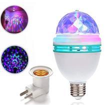 Lâmpada LED Giratória Rgb Rotativa Mini Bola Maluca Luz Festa - Import