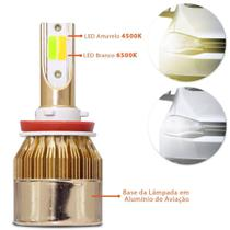 lampada led gold moto H4 dual collor bicolor Fan CG Titan Bros CB - Sn Leds