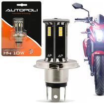 Lâmpada LED H4 21 LEDs 12V 24V 10W Farol Alto 7W Farol Baixo 6500K Luz Branca Carro Moto e Caminhão - Autopoli