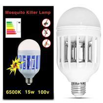 Lâmpada Led Mata Mosquito Insetos Pernilongo Moscas 15W Repelente 6500K E27 Bulbo Branca 110V - Prime