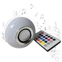 Lâmpada led musical bluetooth rgb 16 cores controle remoto wifi - Decorlaser