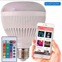 Lâmpada Led Musical Bluetooth Rgb C/ Controle + Alto Falante - Dgs