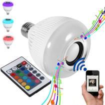 Lampada Led Musical Caixa De Som Bluetooth Led Rgb Com Controle - Import