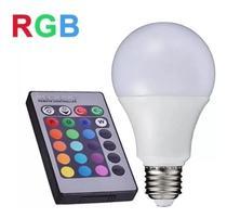 Lâmpada Led Rgb 16 Cores 10w Bivolt E27 Com Controle Remoto - Top Aaa