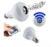 Lâmpada Led Rgb Bluetooth Controle Remoto Caixa De Som 12w - Box7