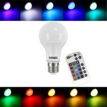 Lâmpada LED RGB com Controle Remoto - Muda De Cor Cromoterapia 9W - Taschibra