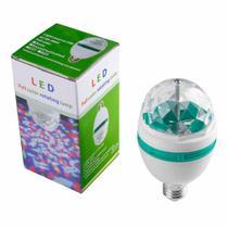 Lâmpada LED RGB Globo De Luz Colorida Giratória -