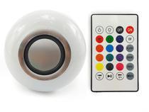Lâmpada Led RGB Musical Bluetooth 3w com Alto Falante e Controle Remoto - Negocio De Gênio