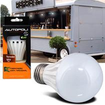 Lâmpada Led SMD Bulbo 12V 6W 6500K 720 Lúmens E27 Autopoli Branco Frio -