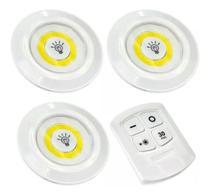 Lampada Led Spot Luminaria S/ Fio Com Controle Remoto 3 EM 1 - LIBA
