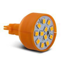 Lâmpada LED T20 1 Polo 12 LEDs 24V Luz Âmbar Ré Freio Seta Lanterna Dianteira Traseira Autopoli -