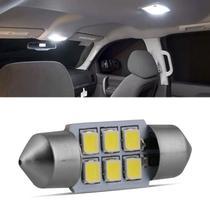 Lâmpada LED Torpedo 32mm 6 LEDs 10W 12V Luz Branca Aplicação Placa e Teto Cortesia - Autopoli