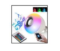 Lampada Musical Bluetooth Com Controle De Led Caixa De Som - Global