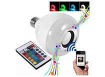 Lampada Musical Bluetooth Rgb Com Controle De Led Caixa De Som E27 500 - Rgb Led