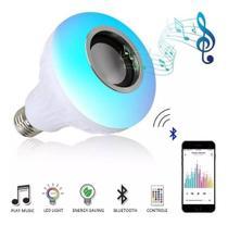 Lampada Musical Bluetooth Rgb Com Controle De Led Caixa De Som E27 - Oliveira