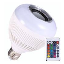 Lampada Musical Bluetooth Rgb Com Controle De Led e Muda as Cores Caixa De Som - Chens