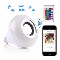 Lampada Musical Caixa De Som Bluetooth Led Rgb Com Controle - Bms