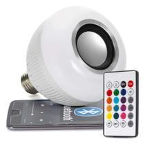 Lampada Musical Caixa De Som Bluetooth Led Rgb Com Controle - Dex