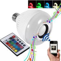 Lampada Musical Caixa Som 3w Bluetooth Led Rgb Com Controle -