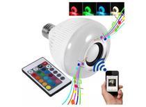 Lampada Musical De Led Bulbo Bluetooth Rgb + Controle Remoto - Lampada Rgb