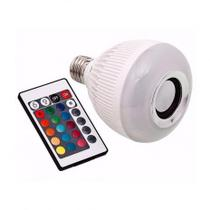 Lampada Musical De Led Bulbo Bluetooth Rgb E Controle - Lotus