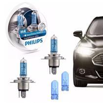 Lâmpada Philips Crystal Vision Ultra H4 Super Branca+pingos -