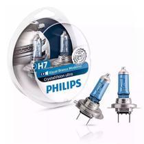 Lampada philips crystal vision ultra h7 efeito xenon + pingos -