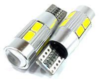 Lâmpada pingão alumínio 10 leds - pingo t10 - super branco - par - Ntv