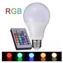 Lâmpada Rgb Luz Led 16 Cores 10w Controle Remoto E27 - Zem