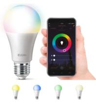 Lâmpada Smart Wi-Fi Elgin Smart Color Bulbo LED - 10W -