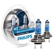 Lampada Super Branca H7 Philips Crystal Vision 4300k -