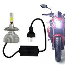 Lâmpada Super LED 2D Headlight H4 6000K 12V 3200LM Efeito Xênon Aplicação Farol Moto - Prime